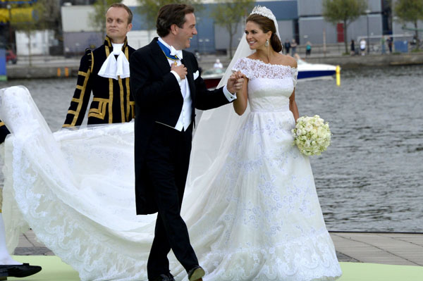 The wedding of Princess Madeleine of Sweden and Christopher O'Neill hosted by King Carl Gustaf XIV and Queen Silvia at The Royal Palace