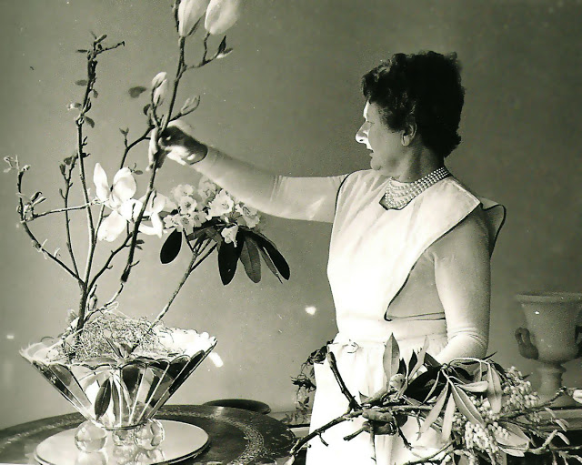 Cecil Beaton - Dress by Schiaperelli, flowers by Constance Spry