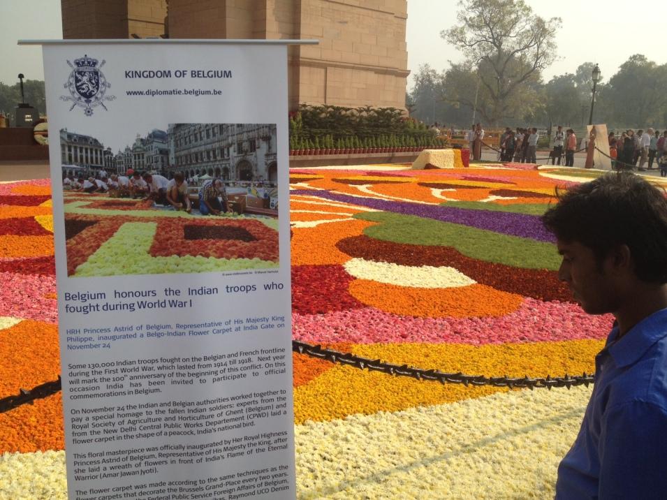 India Gate Bloementapijt Floralien Gent5