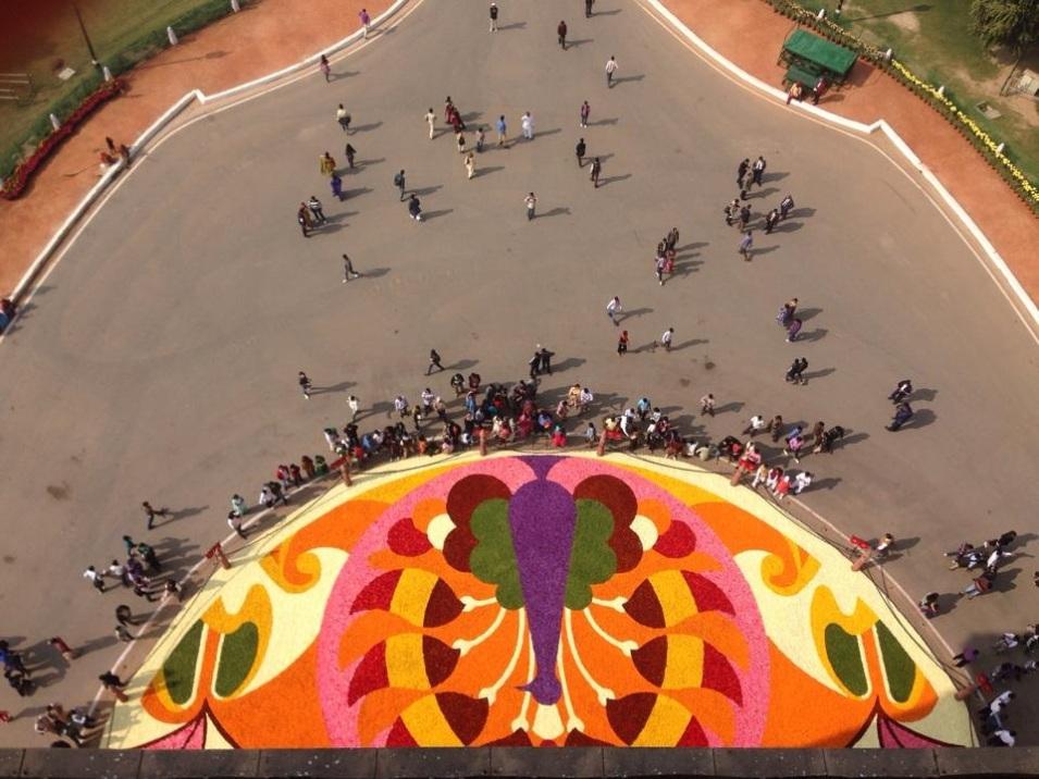 India Gate Bloementapijt Floralien Gent6